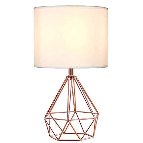 Licht Tafellampen Nachtlamp Lezen Licht Bureau Verlichting Moderne Minimalistische Metalen Schilderen Rose Goud Holle Diamant Ontwerp Tafellamp Persoonlijkheid Diamant Led