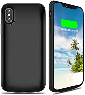 Battery Case Compatible with iPhone X/XS/10,Highwings 6000mAh Charging Charger Case Slim,Portable Protective Battery Case iPhone X/XS/10 Compatible(5.8inch),Extended Battery Pack Case Power Bank-Black