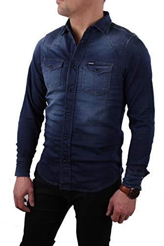 Diesel Camicia Uomo Camicia di jeans Jeans da jogging Sonora-NE Blu - blu, XS