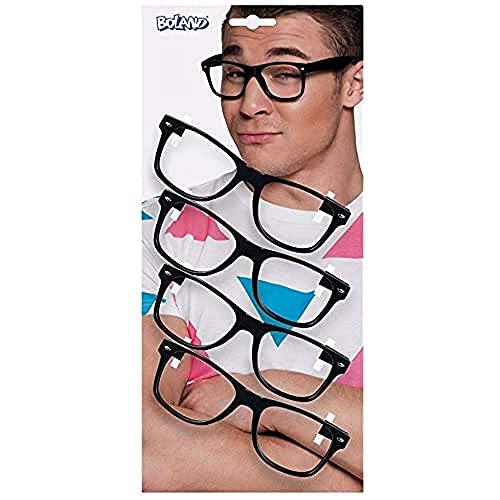 occhiali nerd Boland- Set 4 Occhiali Party per Adulti
