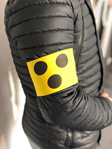wDesigns 2er-Set Blindenbinde für Sehbehinderte 38-39cm Erwachsene Blindenarmbinde mit Klettverschluss