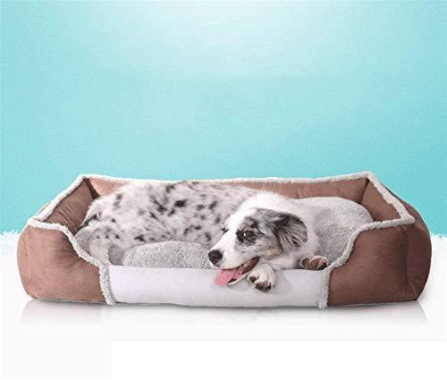 Lujo Cama para perros de mascotas: un saco de dormir con un gato inferior antideslizante, cómodo, cálido y lavable a máquina, adecuado para mascotas pequeñas y medianas, marrones (dentro de 5 kg)
