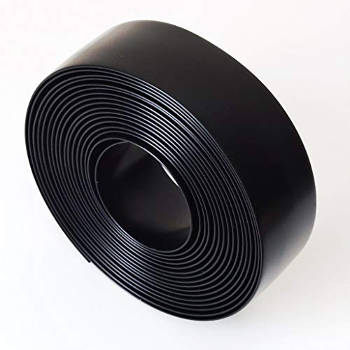 Black 1.5' Wide 20' Length Chair Vinyl Strap Strapping for Patio Lawn Garden Outdoor Furniture Matte Finish Color