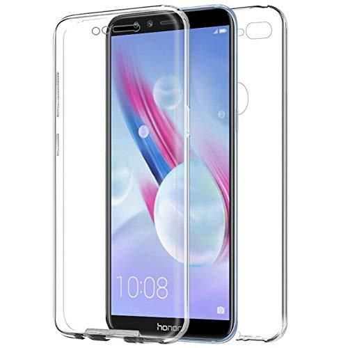 TBOC Funda para Huawei Honor 9 Lite - Honor 9 Youth - Carcasa [Transparente] Completa [Silicona TPU] Doble Cara [360 Grados] Protección Integral Total Delantera Trasera Lateral Móvil Resistente Golpes