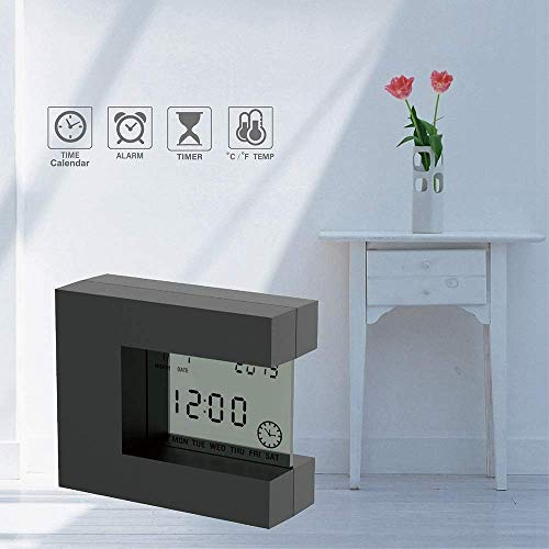 Reloj De Sobremesa Reloj Despertador LCD De Mesa Digital con Calendario, Temperatura...