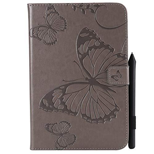 chenyuying Negocio Horizontal Flip Impermeable en Relieve en Relieve patrón de Mariposa de Cuero Premium Protector de Cuero Cuero Espalda Protectora Cubierta Protectora para iPad Mini 1/2/3/4