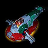 WOLFBSUH Battery Powered LED Light Building Block Accessory Kit for Slave No.1 Star Wars UCS 75060 (LED Included Only, No Lego Kit)