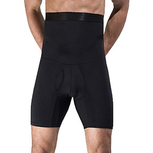 LOPP Pantalones de Fajas adelgazantes para Hombres Ropa Interior de Control de Barriga Calzoncillos de Cintura Alta Pantalones Cortos de compresión, ShaperHombres Shaper para Caballeros (Negro, L)