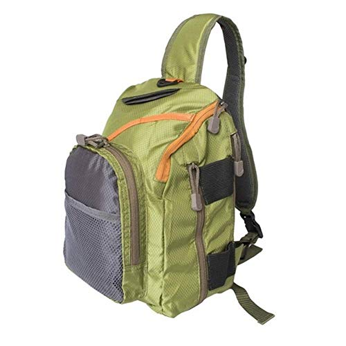 1yess Tragbare Angelrolle Aufbewahrungstasche, Angelgerät Tasche, Angelgerät Aufbewahrungstasche Multi Purpose Angeltasche Fisshing-Köder-Gerät Sling Bag for Fliegenfischen Zubehör (Color : Green)
