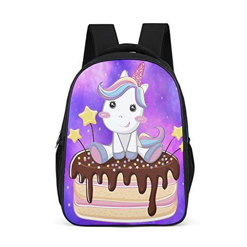 Tuulilinana Zaino per la scuola Kawaii Teenie, zaino per bambini, laptop, ragazza, unicorno Grigio grigio Taglia unica