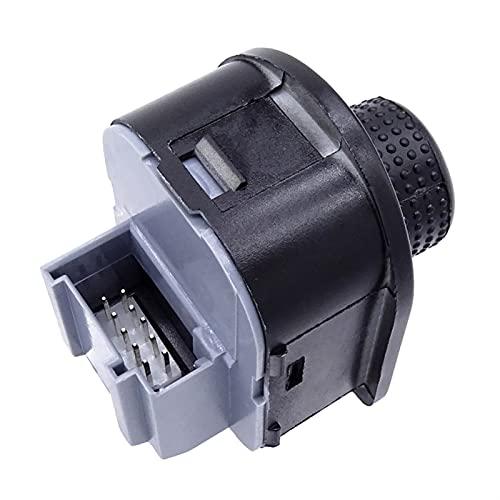 DHTENG para Beetle para PA/SSAT B5 para Bora para Golf 4 para Jetta para MK4 Coche Lado Mirador Mirador Interruptor Retrovisor Botón de Ajuste Control de calefacción 1J1959565F (Color : Black)