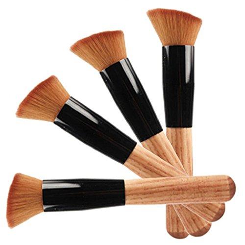 Professional Poignée en bois doux Maquillage Fond de teint poudre Blush Brosse Outil