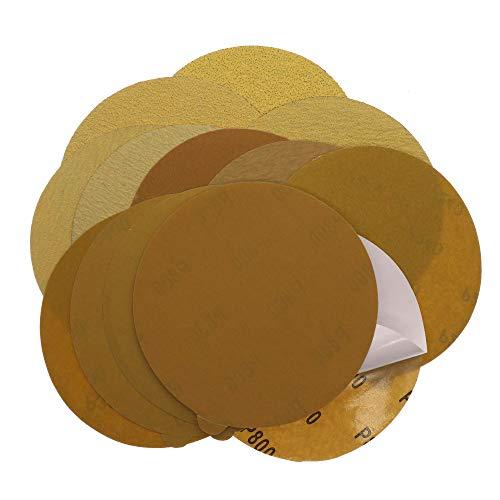 BOZNY Papel de Lija Muela abrasiva de Papel de Lija viscoso de 6 Pulgadas para lijar y pulir Piedra Artificial, Muebles y Madera, 100