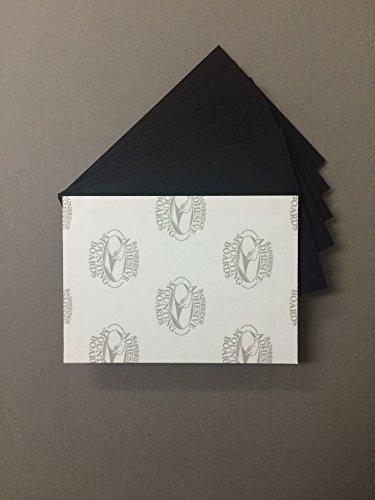 Pack of 10 8x10 3/16' Black Self Adhesive Foam Core Backings