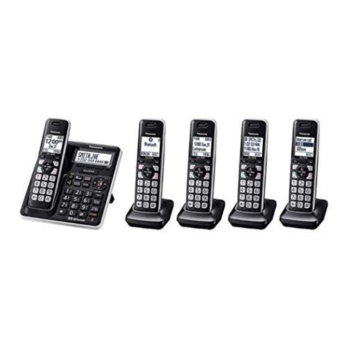 Panasonic KX-TG985SK DECT 6.0 Talking Caller ID Expandable upto 6 Handsets Bluetooth 5-handset Phone (Renewed)