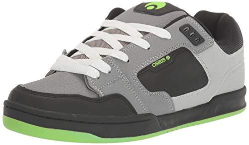 Osiris Herren Trace Skate Schuh, Mehrere (Grau/Hellgrau/Limette), 40 EU