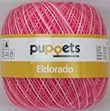 Puppets eldorado 50g Farbe: 38 - pink meliert - Häkelgarn Stärke 12