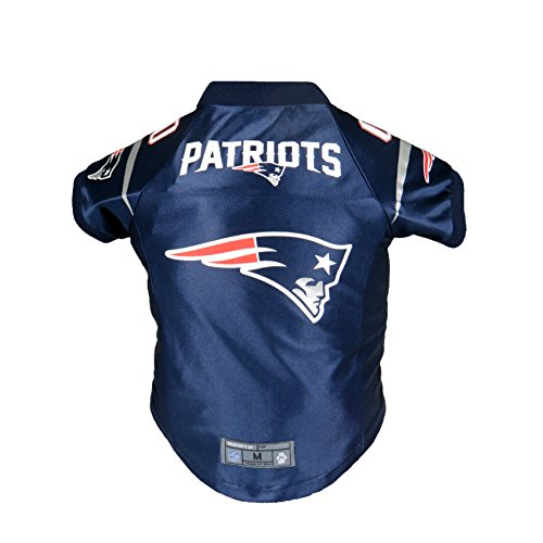 LITTLE EARTH NFL New England Patriots Premium Pet Jersey, Large, Navy