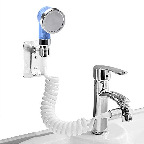 Sink Faucet Hose Sprayer Akamino Hair Washing Hand Shower Spray Faucet Attachment with Hose for Indoor Outdoor Kitchen Bathroom Tool Rinser