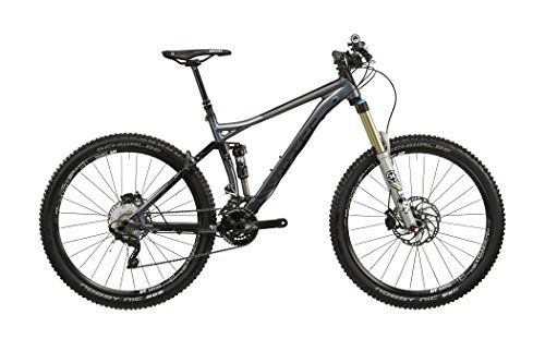 VOTEC VM Comp All Mountain FullSuspension Mountainbike met dubbele vering, 2 x 10 27,5 inch, grijs/zwart, framemaat M / 45 cm 2017