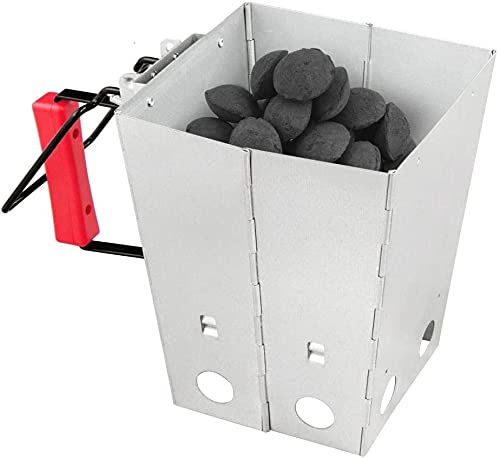 Charcoal Chimney Starter, Multipurpose Charcoal Burner, Compact Easy to Use Chimney Starters and BBQ Grill Tools