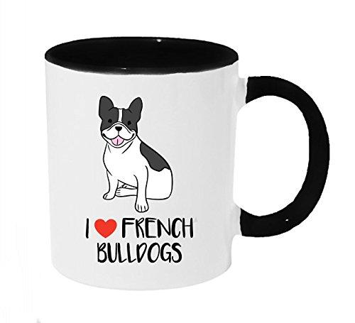 I Heart French Bulldogs Frenchie Dogs Coffee or Tea 11oz Black Handle Mug