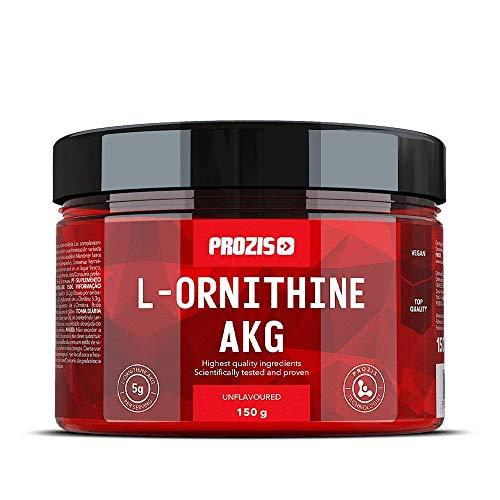 Prozis L-Ornithine AKG 150 g Nature Complément d'Acides Aminés Avancés pour Booster la Prise Musculaire & la Production d'Oxyde Nitrique