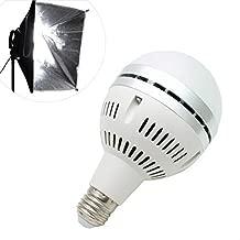 LEDライトバルブ LED電球 撮影 led 35W 5500k E26 昼白色 撮影用照明 LUFAS LIGHT 撮影ライト スタジオ 写真 冷却ファン