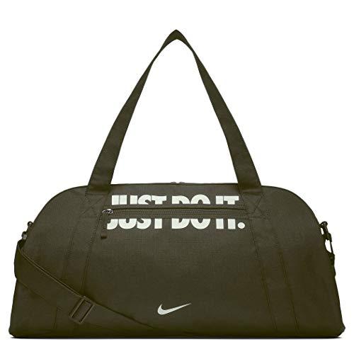 Nike Damen Gym Club Sporttasche, Oliv/Weiß, 20 x 18 x 5 cm