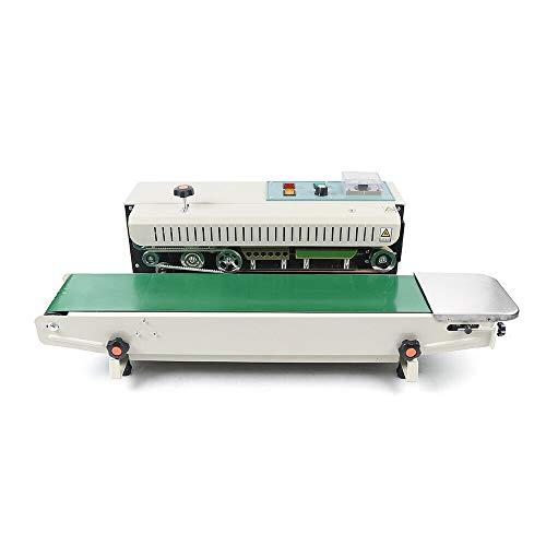 RANZIX Máquina de sellado automática horizontal para bolsas de plástico, máquina de...