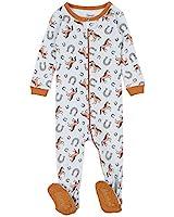 Leveret Kids Pajamas Baby Boys Girls Footed Pajamas Sleeper 100% Cotton (Horse, Size 12-18 Months)