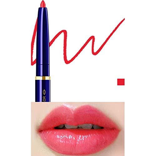 Yiwa Double Tête Cosmétique Professionnel Lipliner Imperméable Dame Charme Lèvres Lèvres Doux Crayon Contour Rouge À Lèvres 02#