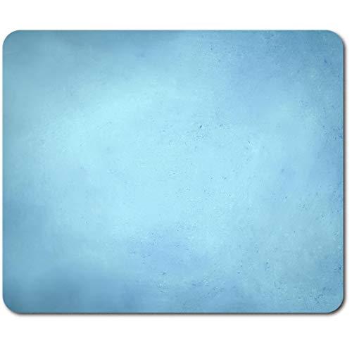 Rechteckiges Mauspad – Pastell Hellblau Grunge Vintage Pale Farbe 23,5 x 19,6 cm (9,3 x 7,7 Zoll) für Computer & Laptop, Büro, rutschfeste Unterseite #45999