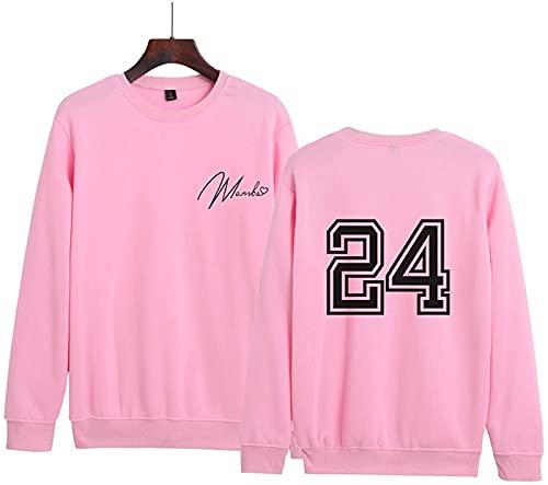 Lakers # 24 Kobe Suelto Collar De Cuello Suéter Conmemorativo Nuevo Tendencia Casual Moda para Hombres Y Mujeres Sudadera Moda Jersey(XXXL, Pink)