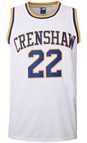 MOLPE McCall 22 Crenshaw Basketball Jersey S-XXXL, 90S Hip Hop Clothing for Party, 2-Layer Stitched Letters and Numbers (White, M)