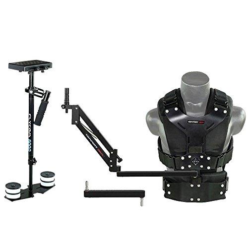 FLYCAM-5000 Handheld-Steadicam-Stabilisator mit Comfort Arm und Weste Professionelles Körper montiert-Stabilisierungssystem für DSLR-Kameras bis 5kg/11lb + Aufbewahrungsbeutel (FLCM-CMFT-KIT)