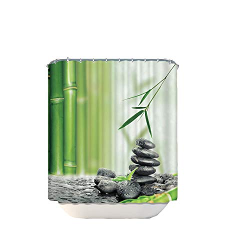 empty Shower Curtain, Bamboo Waterproof Mildew Shower Curtain Polyester Waterproof Digital Printing Bathroom Curtain,Ad-01,1.8X2.1