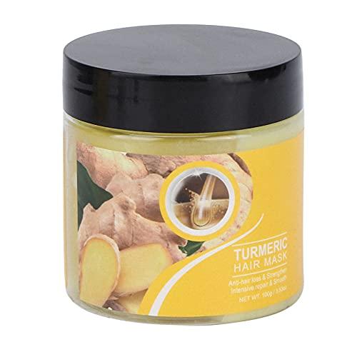 Mascarilla de cúrcuma para cabello seco y dañado, Mascarilla reparadora hidratante para el cabello, Acondicionador antiencrespamiento para el cabello, Hidratante nutritivo para el cabello de 100 g, Ac