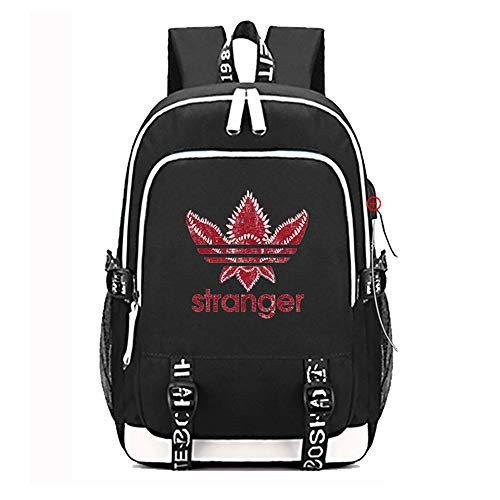 Stranger Things Backpack with USB School/Outdoor Travel Bag