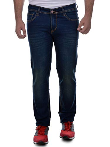Ben Martin Men's Relaxed Fit Jeans (ABMJJ-3-GRN34_Dark Blue with Green Tint_34)