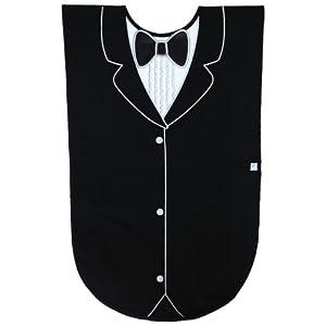 Men's Waterproof Adult Bib, Black Tuxedo, Frenchie Mini Couture