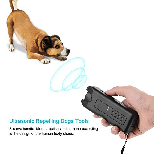 Acogedor Verbesserter Ultraschall-Hundewiederverkäufer, 3 in 1Portable, Anti-Bell-Gerät, Trainer-Gerät, LED-Außenrinde-Controller, Hundewaschmittel
