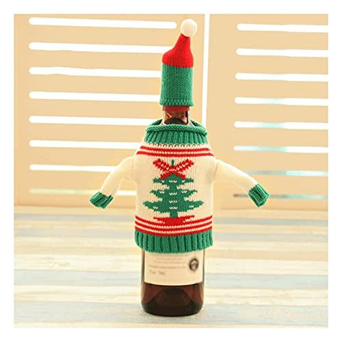 Bolso de la cubierta de la botella de Navidad, vestido de punto de la cubierta de los suéteres de punto con sombrero, decoraciones de mesa creativa de alta gama, bolso de botella de champán occidental