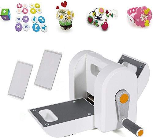 Kit de máquina de troquelado manual y gofrado, plantilla de repujado con 2 placas de plástico, máquina de troquelado, cortador de scrapbooking, corte en relieve