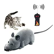 Twshiny Remote Control Mouse Toy Battery Operated For Kids Cat Dog Pet Novelty Gift Funny (Mouse Gra...