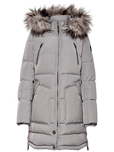 ONLY Damen Mantel Onlnew Rhoda RDS DOWN Coat OTW, Grau (Silver), 38(Herstellergröße:M)