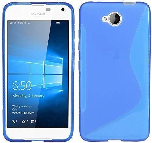 ENERGMiX Silikon Hülle kompatibel mit Microsoft Lumia 650 Schutzhülle Hülle Cover Gel in Blau