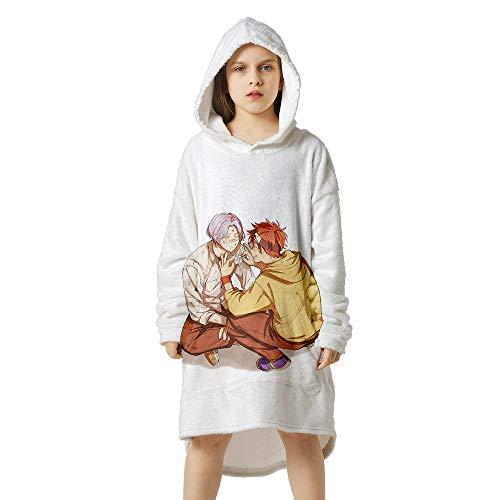 Amacigana Pijama estampado de anime, suave y cómodo, pijama con capucha de franela, el mejor regalo para sus seres queridos (monopatín6, altura: 170-180)