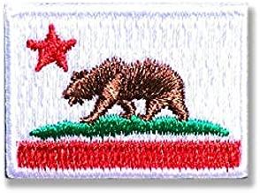 カリフォルニア 州旗 アイロン ワッペン (ミニ 約24mmx33mm)