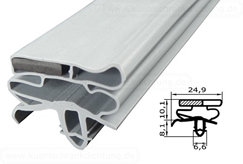 Magnetdichtung Profil groß KD06 - 2000mm inkl. Magnetband - Farbe: Grau (Kühlschrankdichtung)